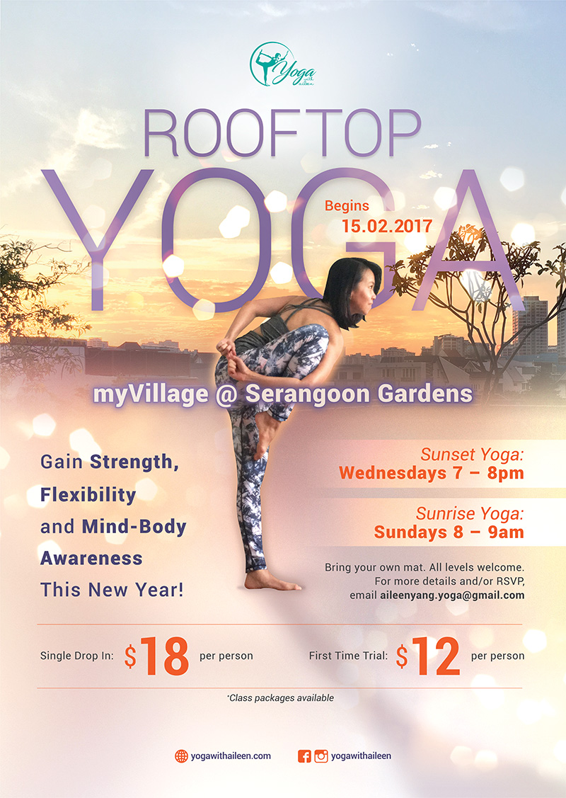 Rev4 - Rooftop Yoga with Aileen Poster Design